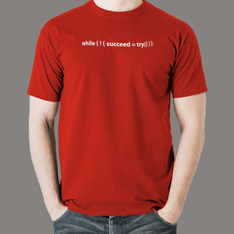 While Succeed Try Computer Programmer T-Shirt For Men Online India