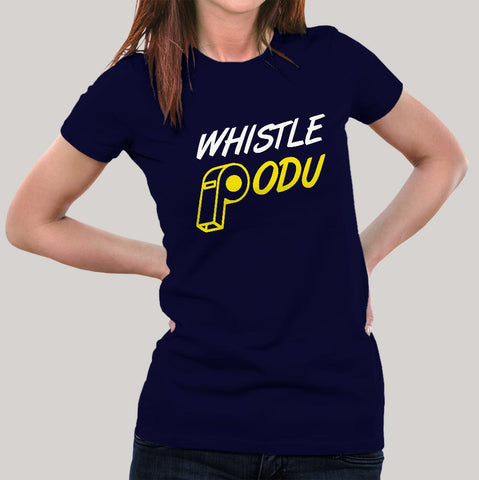 csk whistle podu tshirt
