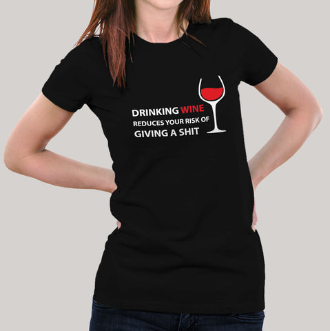 wine tshirt women india