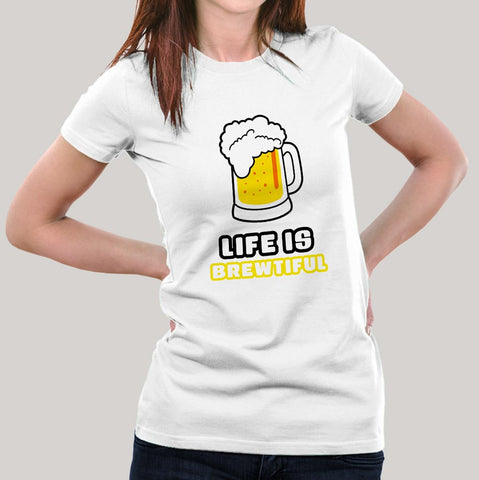 women beer tshirt india