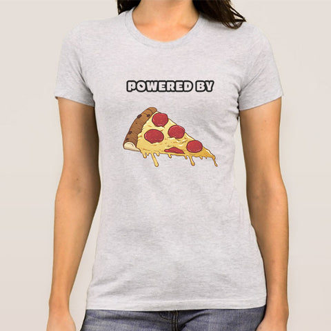 Powered By Pizza Women's T-shirt