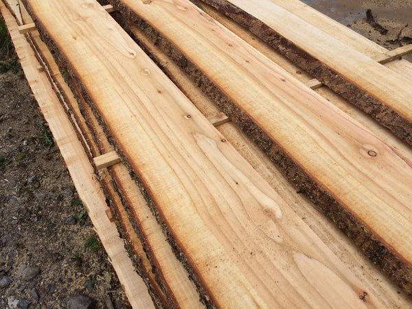 Waney Edge Larch Cladding