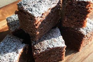 Crunchy Chia Choccy Brownie