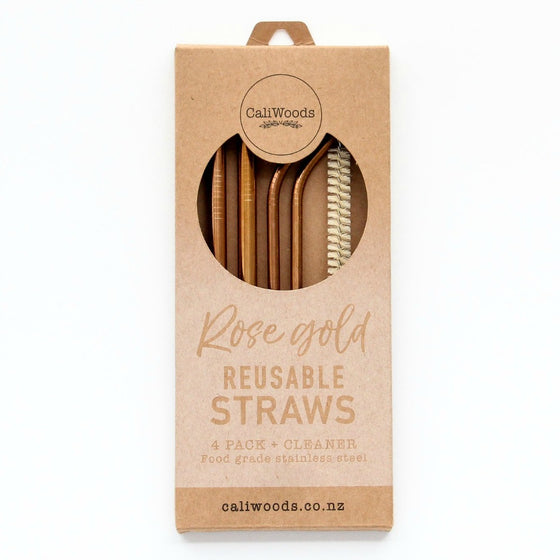 Caliwoods Reusable Straws - Rose Gold Mixed Pack - phunkyBento