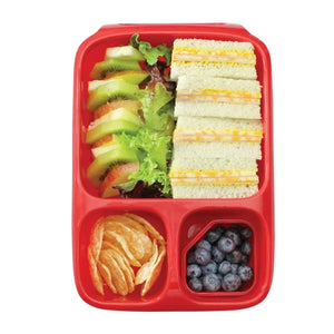 Goodbyn Hero Lunch Box (includes 2 leak proof dippers) - Neon Pink Red - phunkyBento