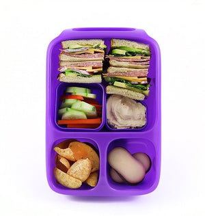 Goodbyn Hero Lunch Box (includes 2 leak proof dippers) - Neon Purple - phunkyBento