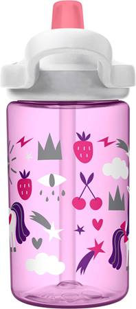 CamelBak Eddy+ Kids Drink Bottle 400ml - Unicorn Party - phunkyBento