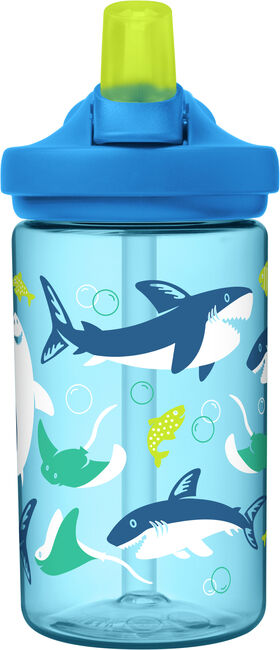 CamelBak Eddy+ Kids Drink Bottle 400ml - Sharks & Rays