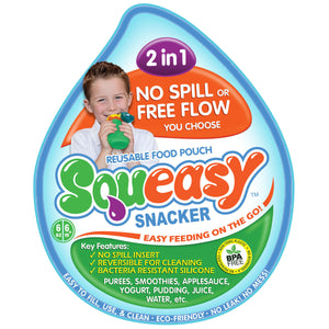 Squeasy Snacker | Medium 180ml - Aqua