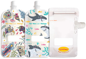 Sinchies Reusable Food Pouch | 80ml - 2pk