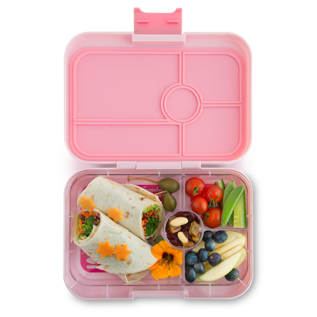 yumbox tapas bento lunchbox 4 compartment amalfi pink phunkybento. Black Bedroom Furniture Sets. Home Design Ideas