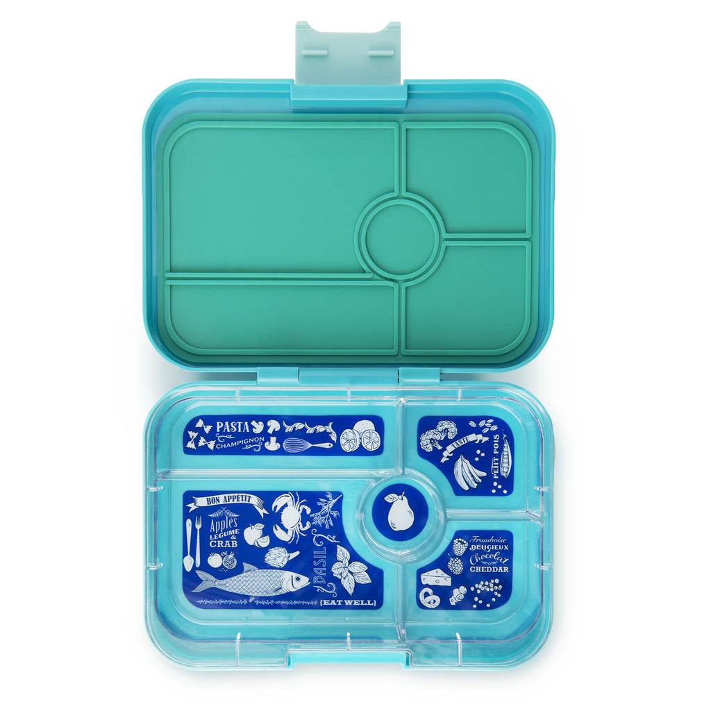 Yumbox Tapas Bento Lunchbox (5 Compartment) - Antibes Blue - phunkyBento