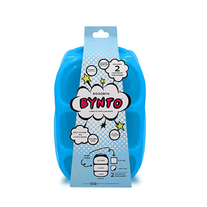 Goodbyn Bynto Lunchbox (NEW - now includes 2 leak proof dippers) - Neon Blue - phunkyBento