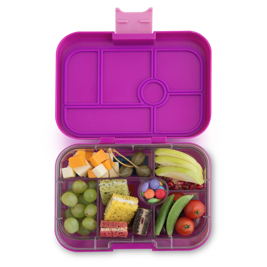 Yumbox Original Bento Lunchbox (6 Compartment) - Bijoux Purple - phunkyBento
