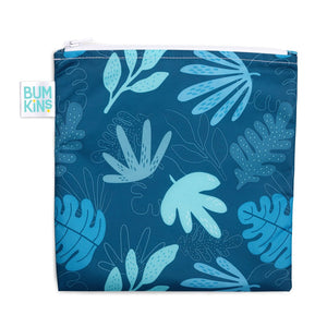 Bumkins Large Reusable Snack Bag - Blue Tropics - phunkyBento