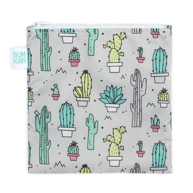Bumkins Large Reusable Snack Bag - Cacti - phunkyBento