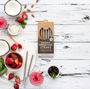 Caliwoods Reusable Smoothie Straws - phunkyBento