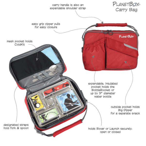 PlanetBox Carry Bag - Rainbow - phunkyBento