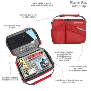 PlanetBox Insulated Lunch Bag - Berry - phunkyBento