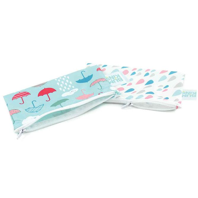 Bumkins Small Snack Bag 2pk - Clouds & Raindrops - phunkyBento
