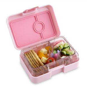 Yumbox Mini Snack Box (3 Compartment) - Coco Pink - phunkyBento