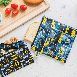 Bumkins Small Snack Bag 2pk | DC Comics - Batman - phunkyBento