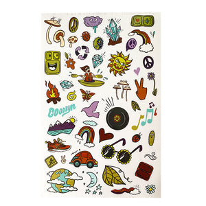 Goodbyn Dishwasher Safe Sticker Set - Groovy Vibes - phunkyBento