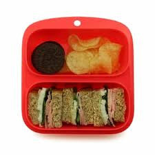 Goodbyn Small Meal (NEW - now includes 2 little dippers) - Neon Pink Red - phunkyBento