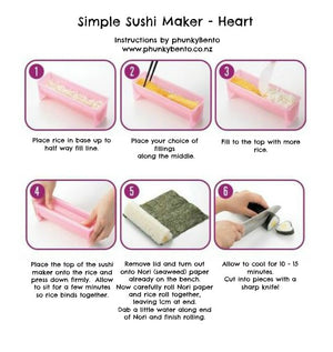 Simple Sushi Maker - Heart - phunkyBento