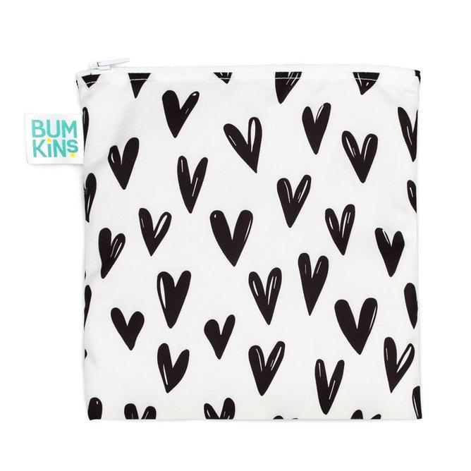 Bumkins Large Reusable Snack Bag - Hearts - phunkyBento
