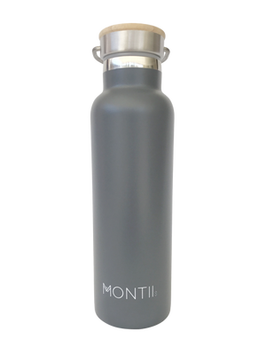 MontiiCo Insulated Drink Bottle (600ml) - Grey - phunkyBento