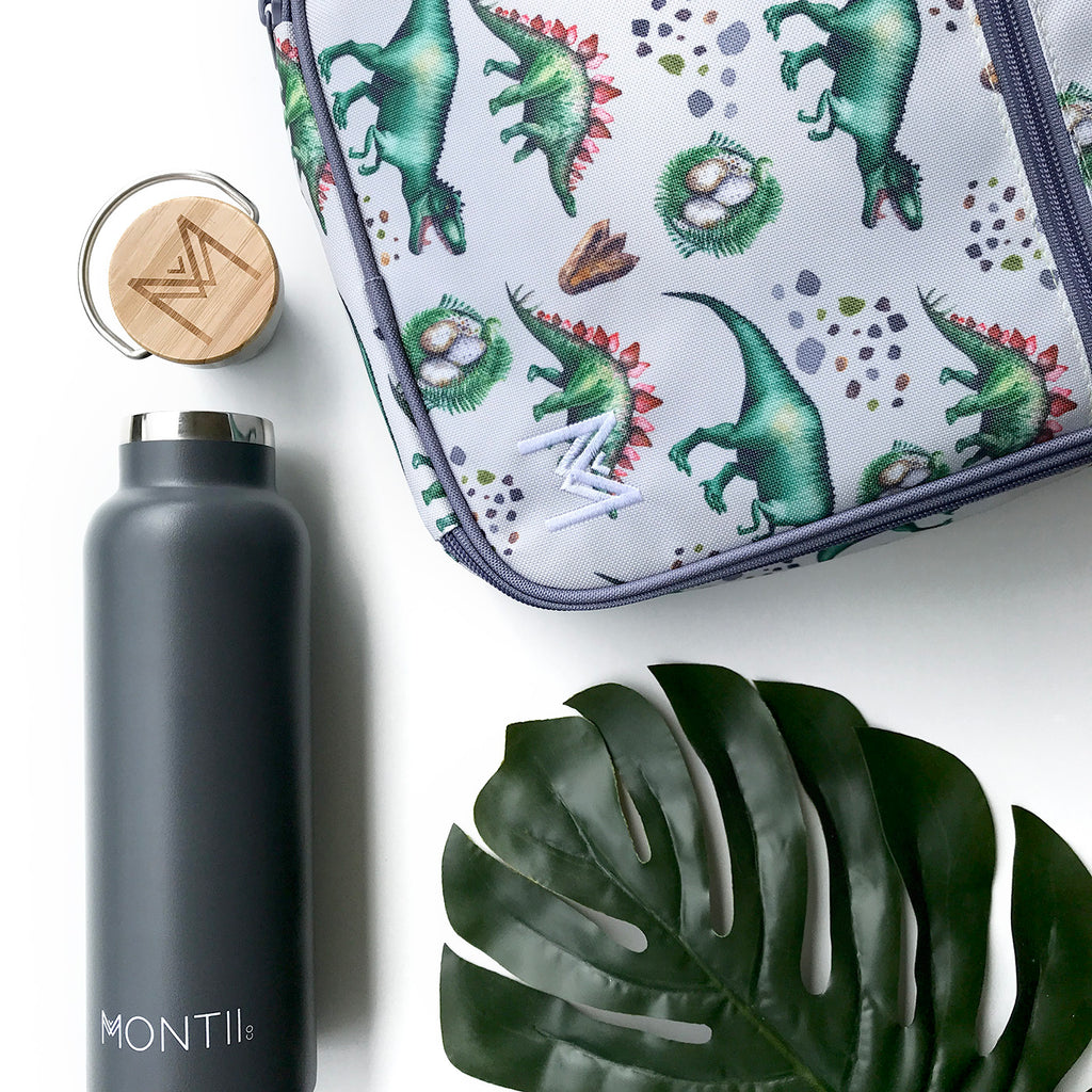 MontiiCo Insulated Lunch Bag - Dinosaur - phunkyBento