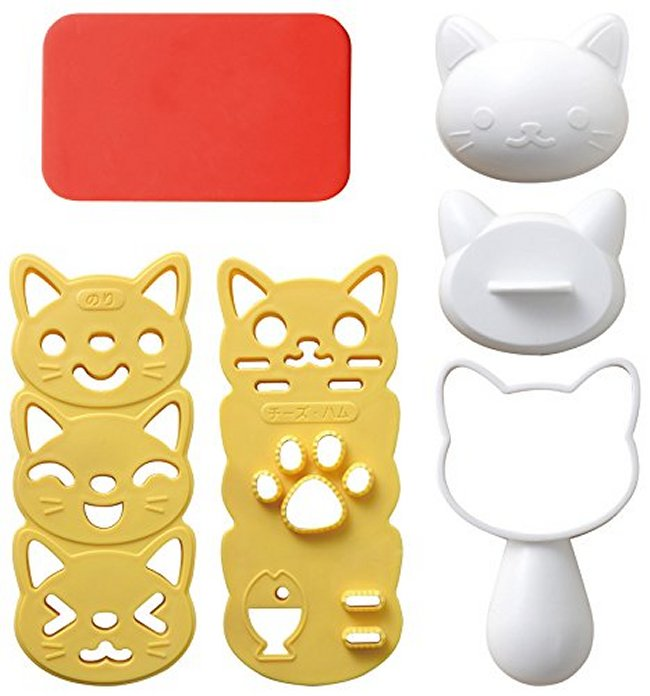Kitten Rice Mould Set - phunkyBento