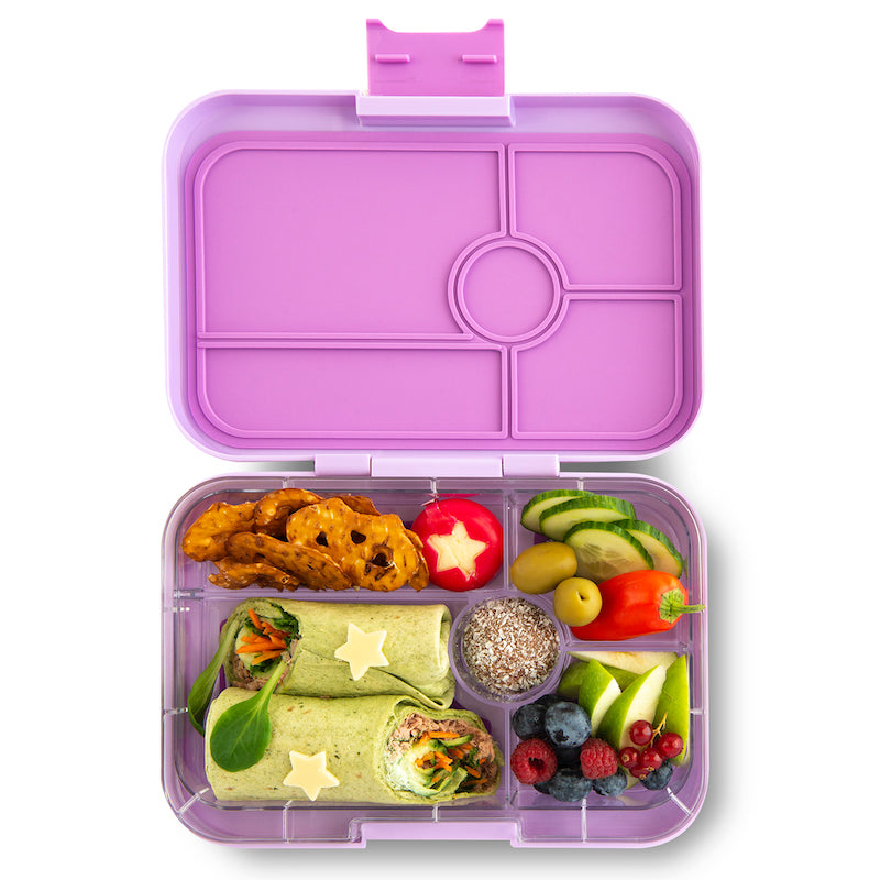 Yumbox Tapas Bento Lunchbox (5 Compartment) - Lila Purple - phunkyBento