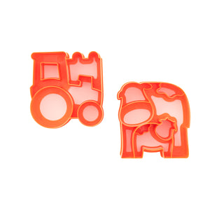 "Lunchpunch ""Farm""Sandwich Cutters - Set of 2 - phunkyBento"