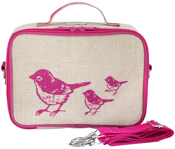 SoYoung Lunch Bag - Pink Birds - phunkyBento