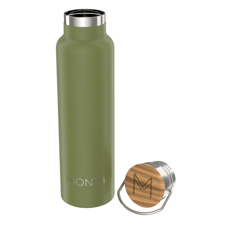 MontiiCo Mega Insulated Drink Bottle (1000 mls) - Olive **ARRIVING APPROX 27th AUGUST**