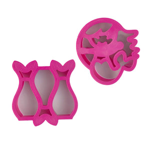 "Lunchpunch ""Mermaid"" Sandwich Cutters - (set of 2) - phunkyBento"