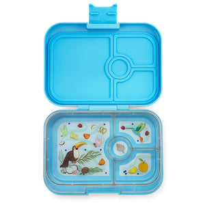 Yumbox Panino Bento Lunchbox (4 Compartment) - Nevis Blue - phunkyBento
