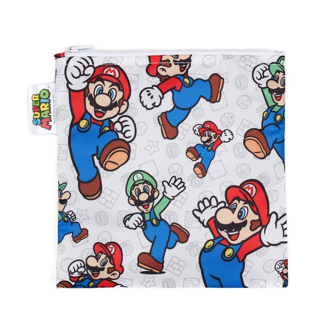 Bumkins Large Reusable Snack Bag - Nintendo Mario - phunkyBento
