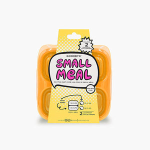 Goodbyn Small Meal (NEW - now includes 2 little dippers) - Neon Orange - phunkyBento