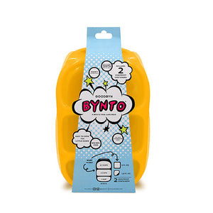 Goodbyn Bynto Lunchbox (NEW - now includes 2 leak proof dippers) - Neon Orange - phunkyBento
