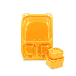 Goodbyn Hero Lunch Box (includes 2 leak proof dippers) - Neon Orange - phunkyBento