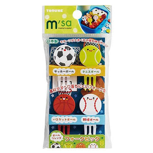 Sport Ball Friends Fork Picks - phunkyBento
