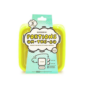 Goodbyn Portions On-the-Go - Neon Yellow Green - phunkyBento