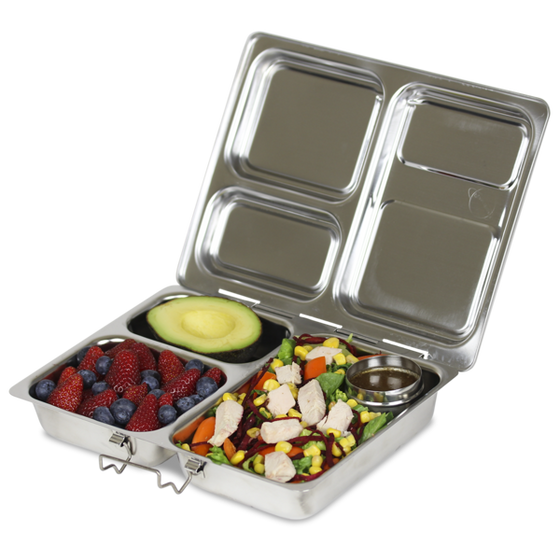 PlanetBox LAUNCH Stainless Steel Bento Lunch Box (3 compartments) - ARRIVING DECEMBER - phunkyBento