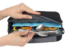 PlanetBox Insulated Slim Sleeve - Jet Black - phunkyBento