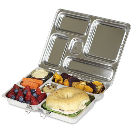 PlanetBox ROVER Stainless Steel Bento Lunch Box (5 compartments) - phunkyBento