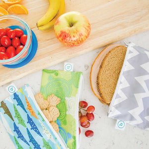 Bumkins Large Reusable Snack Bags - Outdoors - phunkyBento