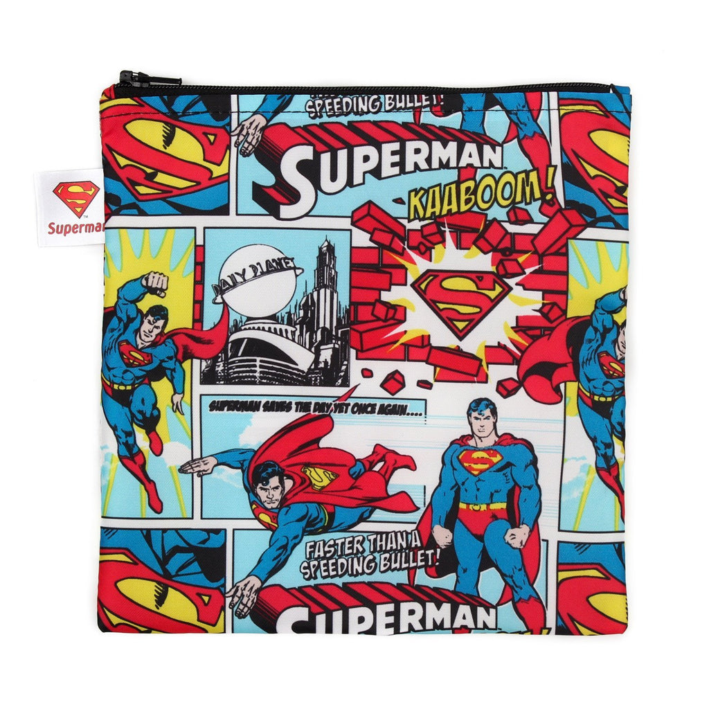 Bumkins Large Reusable Snack Bag | DC Comics -Superman - phunkyBento